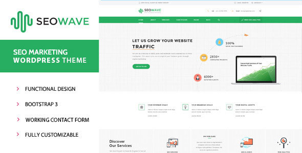 Seo Wave v1.3 - WordPress Theme for SEO