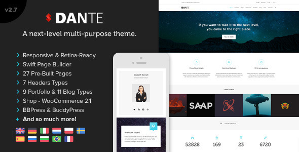 Dante – Responsive Multi-Purpose WordPress Theme v3.4.0