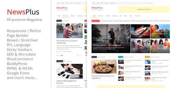 NewsPlus - Magazine/Editorial WordPress Theme v3.1.6