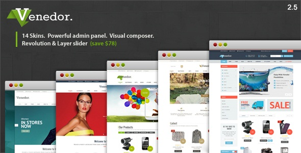 Venedor – WordPress + WooCommerce Theme v2.5.9
