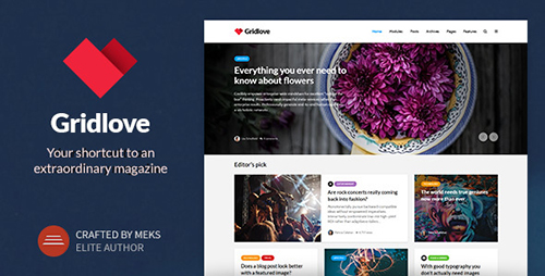 Gridlove v1.7.1 - Creative Grid Style News & Magazine WordPress Theme