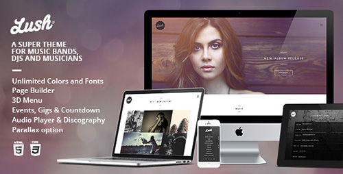 Lush - Music Band & Musician WP Theme v2.9.5