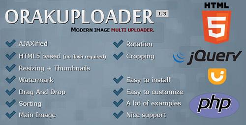 OrakUploader v1 3 - Modern Image Multi Uploader