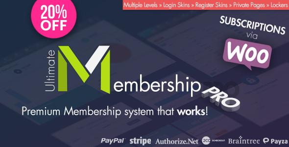 Ultimate Membership Pro WordPress Plugin v6.0