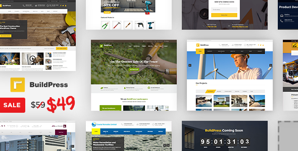BuildPress v5.5.5 - Construction Business WP Theme
