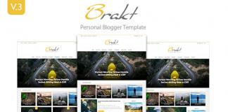 Brakt – Personal Blogger Template v3.0.0