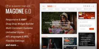 MagOne v6.4.9 - Responsive News & Magazine Blogger Template