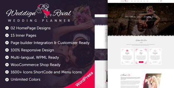 Wedding Reval V1 0 Wedding Planner Agency Wordpress Theme