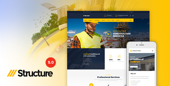 Structure Construction WordPress Theme v5.7.3