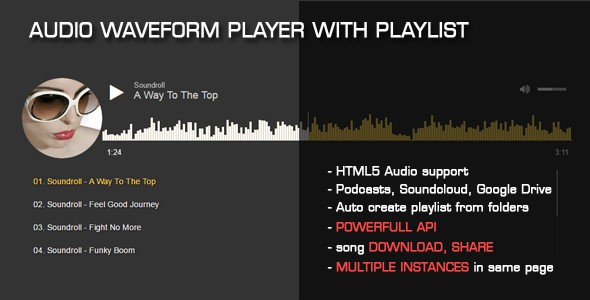 Audio Waveform Player with Playlist v1 1 | CodeCanyon