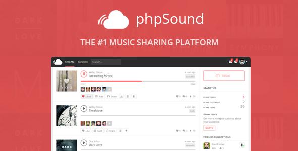 phpSound v4 3 0 - Music Sharing Platform | PHP Script