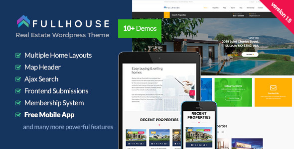 FullHouse v1.8.1 - Real Estate Responsive WordPress Theme