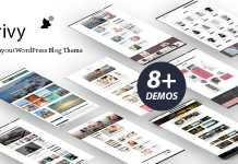 Scrivy v1.0 - Multi-Layout WordPress Blog Theme