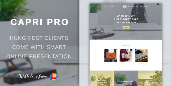 Capri Pro v1.1.21 - Minimalist eCommerce Store Theme