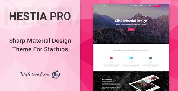Hestia Pro v1.1.74 - Sharp Material Design Theme For Startups