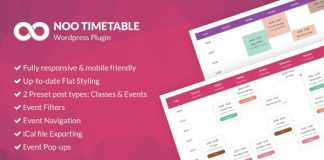 Noo Timetable v2.0.4.3 - Responsive Calendar & Auto Sync WordPress Plugin