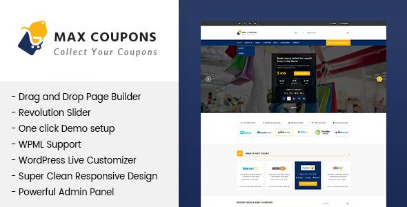 Max Coupons v1.2.2 - Couponry & Deals WordPress Theme