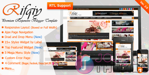 Rifqiy - Responsive Magazine/News Blogger Template Download