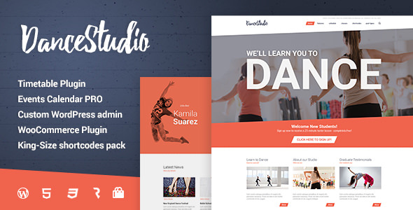 Dance Studio v1.1.7 - WordPress Theme for Dancing Schools & Clubs