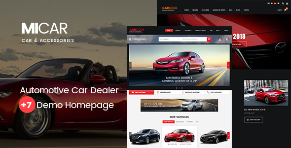 Micar v1.4 - Auto Dealer RTL WooCommerce WordPress Theme