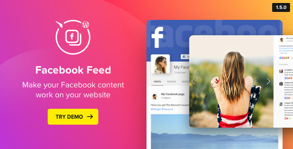 Facebook Feed Widget v1.5.0 - WordPress Facebook Plugin