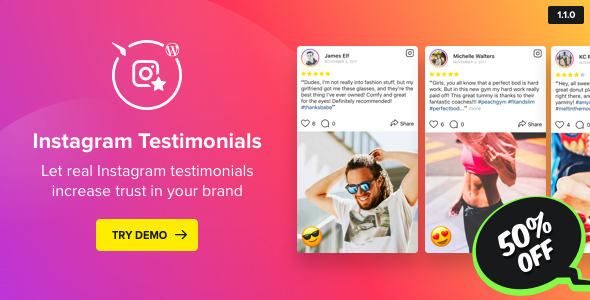 Instagram Testimonials Plugin for WordPress v1.1.0