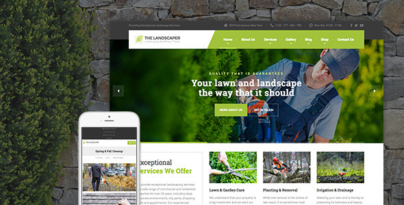 The Landscaper v1.5 - Lawn & Landscaping WP Theme