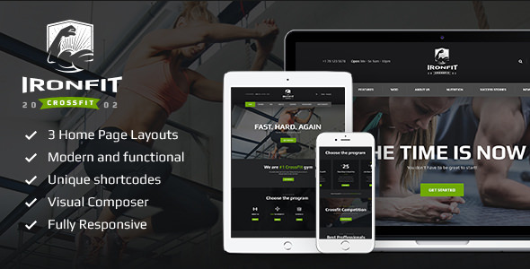 Ironfit v1.3.2 - Fitness, Gym and Crossfit WordPress Theme