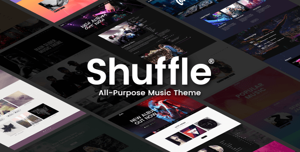 Shuffle v1.4 - All-Purpose Music Theme with Genre-specific Skins & Homepages