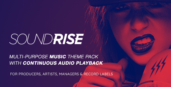 SoundRise v1.4.9 - Artists, Producers and Record Labels WordPress Theme
