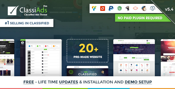 Classiads v5 4 - Classified Ads WordPress Theme