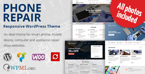 Phone Repair v1.7.3 - Mobile, Cell Phone and Computer Repair WordPress Theme
