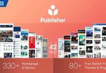 Publisher v7.5.1 - Magazine News Blog AMP