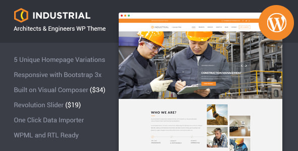 Industrial v1.3.1 - Architects & Engineers WP Theme