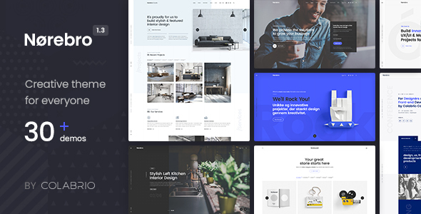 Norebro v1.3.8 - Creative Multipurpose WordPress Theme