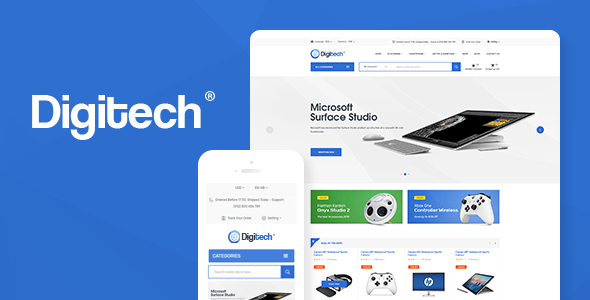 Digitech v1.0.5 - Technology Theme for WooCommerce WordPress