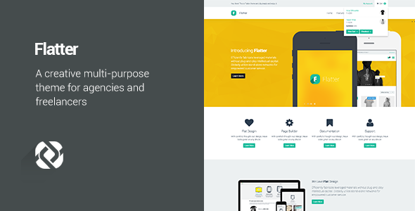 Flatter v1.6.5 - Multi-Purpose Theme for Your Creativity