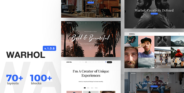 Warhol v1.0.9 - Responsive Multipurpose Theme for Creatives