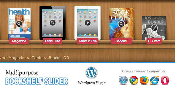 Multipurpose Bookshelf Slider v2.14 - WordPress Plugin