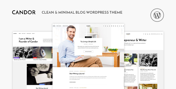Candor v1.1.2 - Responsive WordPress Blog Theme