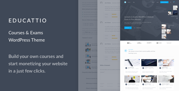 Educattio v1.0.1 - Courses & Exams WordPress Theme
