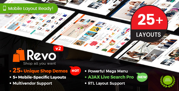 Revo v2.9.0 - Multi-Purpose Responsive WooCommerce Theme