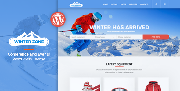 WinterZone v1.2.1 - Ski & Winter Sports WordPress Theme
