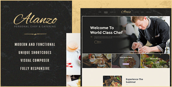 Alanzo v1.0 - Personal Chef & Catering WordPress Theme