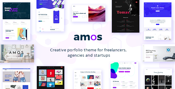 Amos v1.1 - Creative WordPress Theme for Agencies
