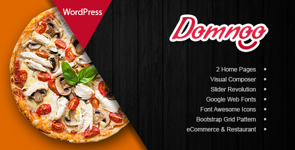 Domnoo v1.6 - Pizza & Restaurant WordPress Theme