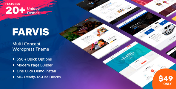 Farvis v1.2.8 - Multipurpose WordPress Theme
