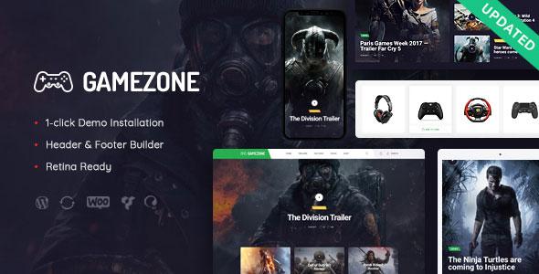 Gamezone v1 0 - Gaming Blog & Store WordPress Theme