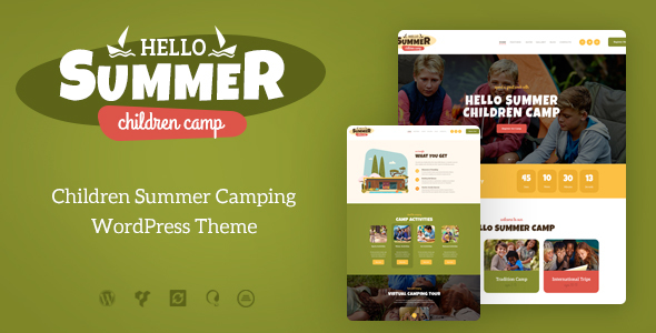 Hello Summer v1.0.1 - A Children's Camp WordPress Theme
