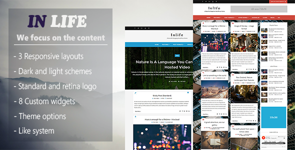 InLife v1.4.1 - Simple & Flexible Blog/Magazine